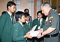 The Chief of Army Staff, General Bipin Rawat interacting with the students of DPS, Raigarh, Chhattisgarh, in New Delhi on July 03, 2018.JPG