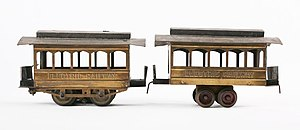 Carlisle & Finch - A No. 42 Trolley and Trailer in the permanent collection of The Children's Museum of Indianapolis. Made between 1904-1909.