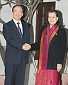 The Chinese Premier, Mr. Wen Jiabao meeting the Chairperson, National Advisory Council, Smt. Sonia Gandhi, in New Delhi on December 16, 2010.jpg