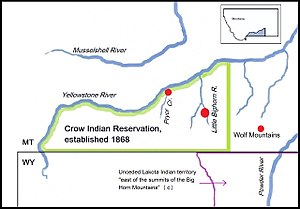 Crow scouts - Image: The Crow Indian reservation and some battlefields (c.)