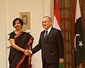 The Foreign Secretary, Smt. Nirupama Rao with the Foreign Secretary of Pakistan, Mr. Salman Bashir, in New Delhi on February 25, 2010.jpg