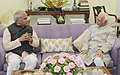 The Governor of Assam, Shri Banwarilal Purohit calling on the Vice President, Shri M. Hamid Ansari, in New Delhi on September 10, 2016 (1).jpg