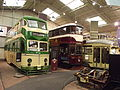 The Great Exhibition Hall - Century of Trams Exhibition - National Tramway Museum - Crich - Blackpool 249, Edinburgh 35 & Hague 1147 (15207626827).jpg