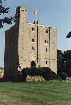 Edward de Vere, 17th Earl of Oxford - The surviving keep of Hedingham Castle, the De Vere family seat since the Norman Conquest