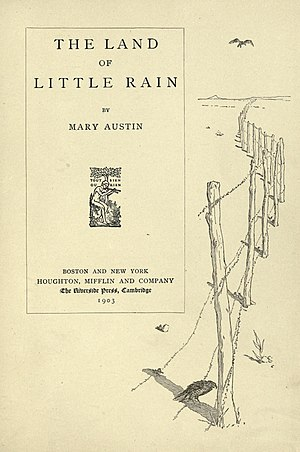 The Land of Little Rain - title page, 1903