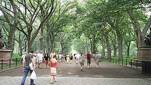 The Mall and Literary Walk, Central Park, NYC