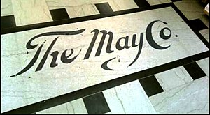 May Company California - The May Company terrazzo at the entrance of the company's flagship department store in downtown Los Angeles
