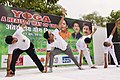 The Minister of State for Youth Affairs & Sports and Information & Broadcasting (IC), Col. Rajyavardhan Singh Rathore and other dignitaries participates in the mass yoga demonstration (2).JPG