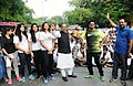 The Minister of State for Youth Affairs and Sports (IC), Water Resources, River Development and Ganga Rejuvenation, Shri Vijay Goel at the flag-off ceremony of the 8th Slum Yuva Daud from Qutub Minar Bus Stand, in New Delhi.jpg
