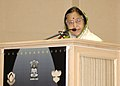 The President, Smt. Pratibha Devisingh Patil addressing at the 55th National Film Awards function, in New Delhi on October 21, 2009.jpg