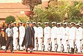 The President of Afghanistan, Mr. Hamid Karzai inspecting the guard of honour, in New Delhi on April 10, 2006.jpg