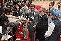 The President of Brazil, Mr. Luiz Inacio Lula da Silva, interacting with the media after the Ceremonial Reception at Rashtrapati Bhavan, in New Delhi on June 04, 2007.jpg
