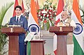 The Prime Minister, Shri Narendra Modi and the Prime Minister of Canada, Mr. Justin Trudeau, during the Joint Press Statement, at Hyderabad House, in New Delhi on February 23, 2018.jpg