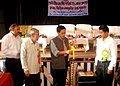 The State Rural Development Minister, Tripura, Shri Jitendra Chowdhury lighting the lamp to launch the Unique ID Project (Aadhaar) in the State, at Rupaichhari RD Block, Tripura. The Chairman.jpg