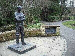 Steve Hislop - Hislop bronze memorial at Wilton Park, Hawick
