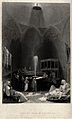 The cooling room of a hammam. Engraving by J.T. Willmore aft Wellcome V0020021.jpg