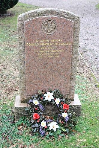 Donald Callander - The grave of Donald Fraser Callander, Dean Cemetery