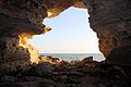 The grotto at the seashore in Aktau.jpg