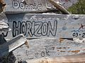 The high point at Warderick Wells is a place boaters leave their mark on driftwood and other assorted signatures (3425511803).jpg