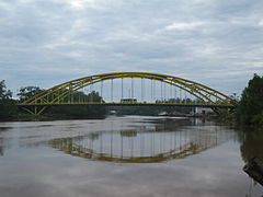 Batang Mukah Bridge, one of the most notable structures of Mukah.