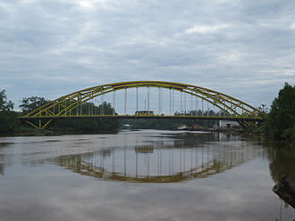 Mukah - The Batang Mukah Bridge, one of the most notable structures of Mukah.