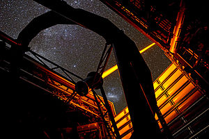 Optical aberration - Image: The new PARLA laser in operation at ESO's Paranal Observatory