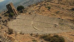 Acropolis in Bergama (Pergamum), Turkey, in Oc...