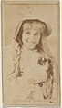 Theresa Vaughn, from the Actors and Actresses series (N45, Type 8) for Virginia Brights Cigarettes MET DP831710.jpg
