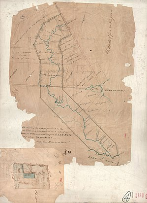 Halton County, Ontario - Image: Thomas Ridout map of Grand River Indian Lands, 1821
