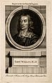 Thomas Willis. Line engraving after D. Loggan. Wellcome V0006300.jpg