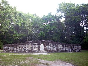 Twin-pyramid complex - Image: Tikal Complex Q north enclosure