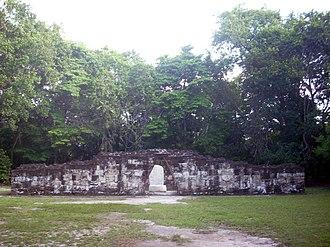 Twin-pyramid complex - Image: Tikal Complex Q north enclosure