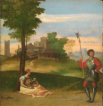 Harvard Art Museums - Image: Titian Rustic Idyll WGA22728