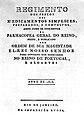 Title Page; 'Regimento dos precos...' 1818. Wellcome L0000711.jpg