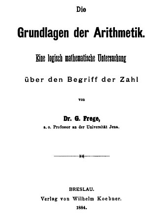 The Foundations of Arithmetic - Image: Title page of Die Grundlagen der Arithmetik