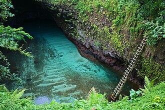 Lotofaga - To Sua ocean trench in Lotofaga