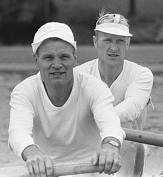 Veli Lehtelä - Pitkänen and Lehtelä (right) at the 1964 European Championships
