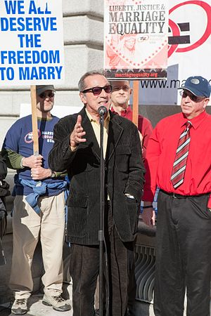 Tom Ammiano - Ammiano speaks at a marriage equality rally outside the James R. Browning United States Court of Appeals Building in San Francisco, December 2011.