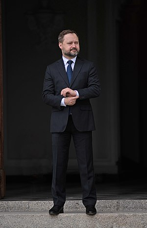 """Tomasz Makowski - Tomasz Makowski during the opening ceremony of the exhibition """"Maska Słowackiego"""", 2009"""