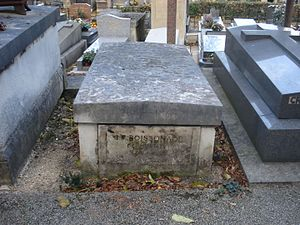 Jean François Boissonade de Fontarabie - Boisonnade's grave at Monmartre Cemetery