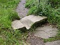 Top step on footpath to Canford Drive, Allerton, Bradford - geograph.org.uk - 490251.jpg