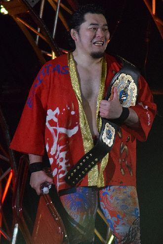 Toru Yano - Yano as a NEVER Openweight 6-Man Tag Team Champion in February 2016