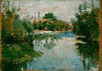 Toulouse-Lautrec - CELEYRAN , AU BORD DE LA RIVIERE, 1880, MTL.13.jpg