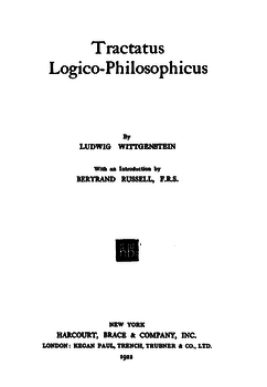 Tractatus title page 1922 Harcourt.png