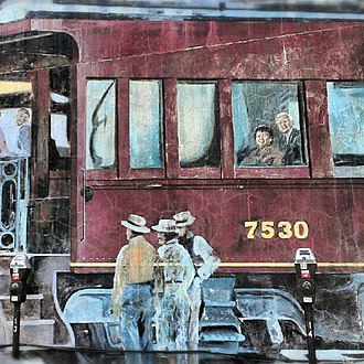 Trains (mural) - Image: Trains Mural by Jeff and Gregory Ackers Columbus, Ohio 1989 03