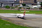 TransAsia Airways ATR 72-212A B-22822 Departing from Taipei Songshan Airport 20150908d.jpg