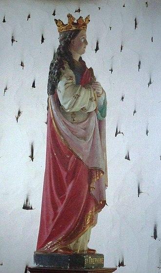 Conomor - Statue of St Tréphine