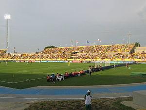 Estadio Jaime Morón León - Image: Tribuna oriental del estadio Jaime Morón
