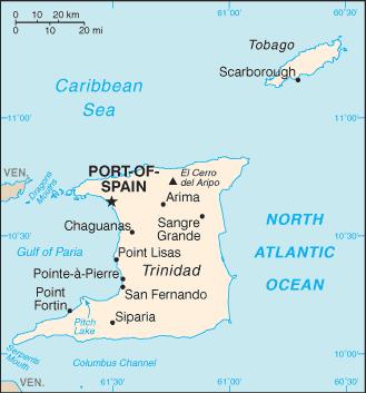 Trinidad and Tobago-CIA WFB Map