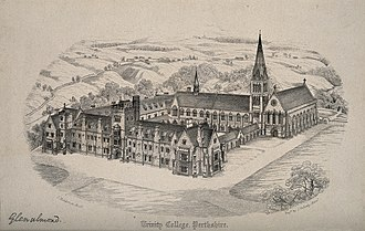 Glenalmond College - Glenalmond College, architect's original proposed design c. 1841